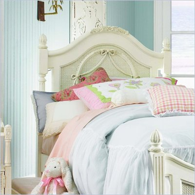 Lea Emma's Treasures Poster Headboard with Metal Frame in White