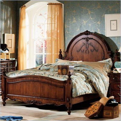 Lea Jessica McClintock Heirloom Panel Bed in Dark Cherry