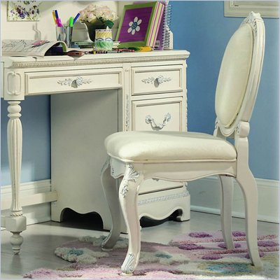 Lea Jessica McClintock Romance Upholstered Desk Chair in Antique White