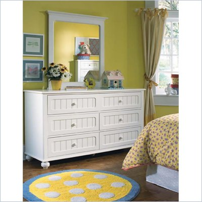 Lea My Style 6 Drawer Double Dresser and Verticle Mirror Set