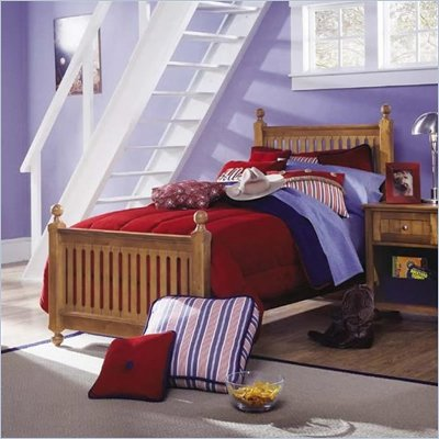 Lea My Style Kids Twin Wood Slat Bed 5 Piece Bedroom Set