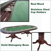 Trademark Texas Holdem 96 Table Mahogany Deluxe in Green