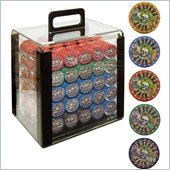 Trademark 1000 10g Nevada Jacks Poker Chips in Acrylic Carrier