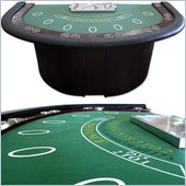 Trademark Deluxe Blackjack Table with Pedestal Legs metal locking tray