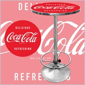 Trademark Coca Cola Vintage Pub Table