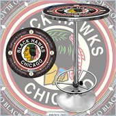 Trademark NHL Vintage Chicago Blackhawks Pub Table