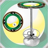 Trademark 9-Ball Light Pub Table