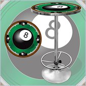 Trademark 8-Ball Light Pub Table
