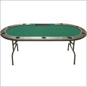 Trademark 96 Holdem Folding Poker Table with Dealer Position in Green