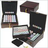 Trademark 750 HIGH ROLLER Poker Chip Set With Polished Laquer Finish Case