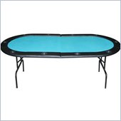 Trademark Global Padded Folding Texas Holdem Table in Green