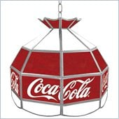 Trademark Coca Cola Vintage 16 Inch Stained Tiffany Lamp