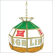 Trademark Miller High Life Stained Glass Tiffany Lamp - 16 Inches
