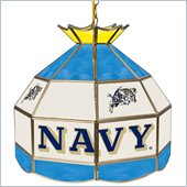 Trademark U.S. Naval Academy Stained Glass Tiffany Lamp - 16 Inch