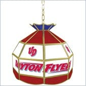 Trademark University of Dayton Stained Glass Tiffany Lamp - 16 Inch