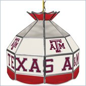 Trademark Texas A&M University Stained Glass Tiffany Lamp - 16 Inch