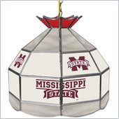 Trademark Mississippi State U Stained Glass Tiffany Lamp - 16 Inch