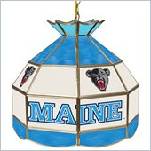 Trademark University of Maine Stained Glass Tiffany Lamp - 16 Inch