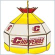 ADD TO YOUR SET: Trademark Central Michigan U Stained Glass Tiffany Lamp - 16 Inch