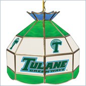 Trademark Tulane University Stained Glass Tiffany Lamp - 16 Inch