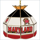 Trademark Maryland University Stained Glass Tiffany Lamp - 16 Inch
