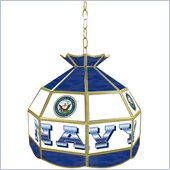 Trademark United States Navy Stained Glass Tiffany Lamp - 16 inches