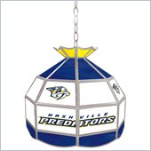 Trademark NHL Nashville Predators Stained Glass Tiffany Lamp - 16 inch