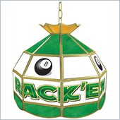 Trademark Rack'em 8-Ball Stained Glass Tiffany Lamp - 16 inch diameter