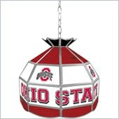 Trademark Ohio State Glass Tiffany Lamp - 16 inch diameter