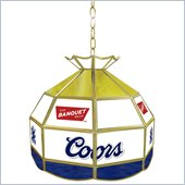 Trademark Coors Banquet Stained Glass Tiffany Lamp - 16 inch diameter
