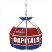 Trademark NHL Washington Capitals Stained Glass Tiffany Lamp - 16 inch diameter
