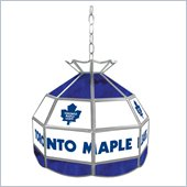 Trademark NHL Toronto Maple Leafs Stained Glass Tiffany Lamp