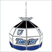 Trademark NHL Tampa Bay Lightning Stained Glass Tiffany Lamp - 16 inch