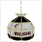 Trademark NHL Phoenix Coyotes Stained Glass Tiffany Lamp - 16 inch diameter