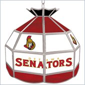 Trademark NHL Ottawa Senators Stained Glass Tiffany Lamp - 16 inch diameter