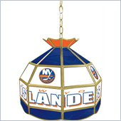 Trademark NHL New York Islanders Stained Glass Tiffany Lamp - 16 inch diameter