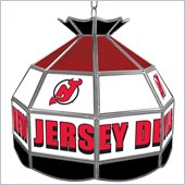 Trademark NHL New Jersey Devils Stained Glass Tiffany Lamp - 16 inch diameter