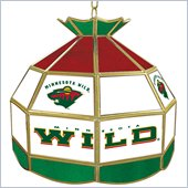 Trademark NHL Minnesota Wild Stained Glass Tiffany Lamp - 16 inch diameter