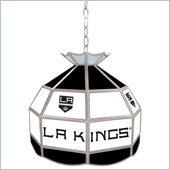 Trademark NHL Los Angeles Kings Stained Glass Tiffany Lamp - 16 inch diameter