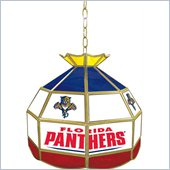 Trademark NHL Florida Panthers Stained Glass Tiffany Lamp - 16 inch diameter
