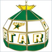 Trademark NHL Dallas Stars Stained Glass Tiffany Lamp - 16 inch diameter