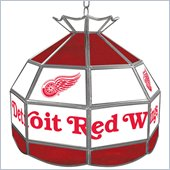 Trademark NHL Detroit Redwings Stained Glass Tiffany Lamp - 16 inch diameter