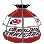 Trademark NHL Carolina Hurricanes Stained Glass Tiffany Lamp - 16 inch diameter