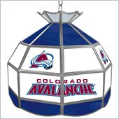 Trademark NHL Colorado Avalanche Stained Glass Tiffany Lamp - 16 inch diameter