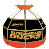 Trademark NHL Anaheim Ducks Stained Glass Tiffany Lamp - 16 inch diameter