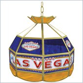 Trademark Las Vegas Stained Glass Tiffany Lamp - 16 inch diameter