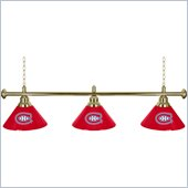 Trademark NHL Montreal Canadiens 60 Inch 3 Shade Billiard Lamp