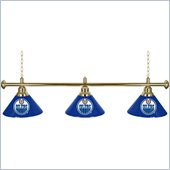 Trademark NHL Edmonton Oilers 60 Inch 3 Shade Billiard Lamp