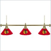 Trademark NHL Chicago Blackhawks 60 Inch 3 Shade Billiard Lamp