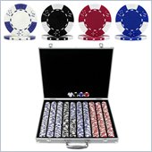 Trademark 1000 pc Lucky Crown 11.5g Chip Set With Executive Case
